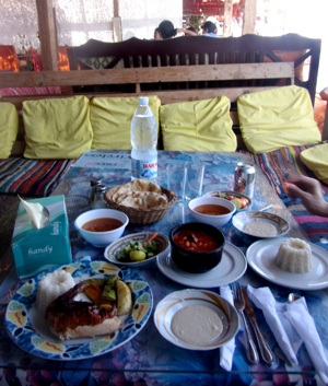 Meal at Fighting Kangaroo in Dahab, Egypt
