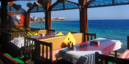 Restaurant in Dahab, Egypt