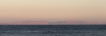 View of Saudi Arabia from Dahab, Egypt