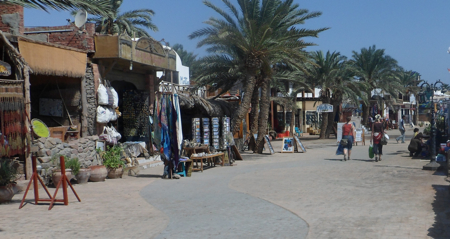Boardwalk in Dahab, Egypt