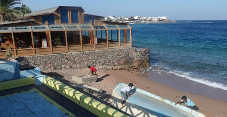Kids Playing in Dahab, Egypt