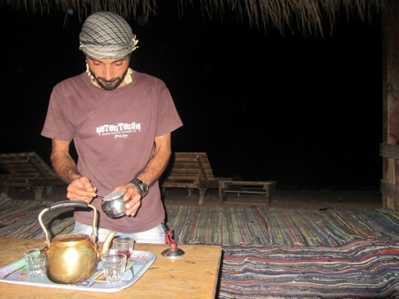 Making Bedouin Tea in Dahab, Egypt